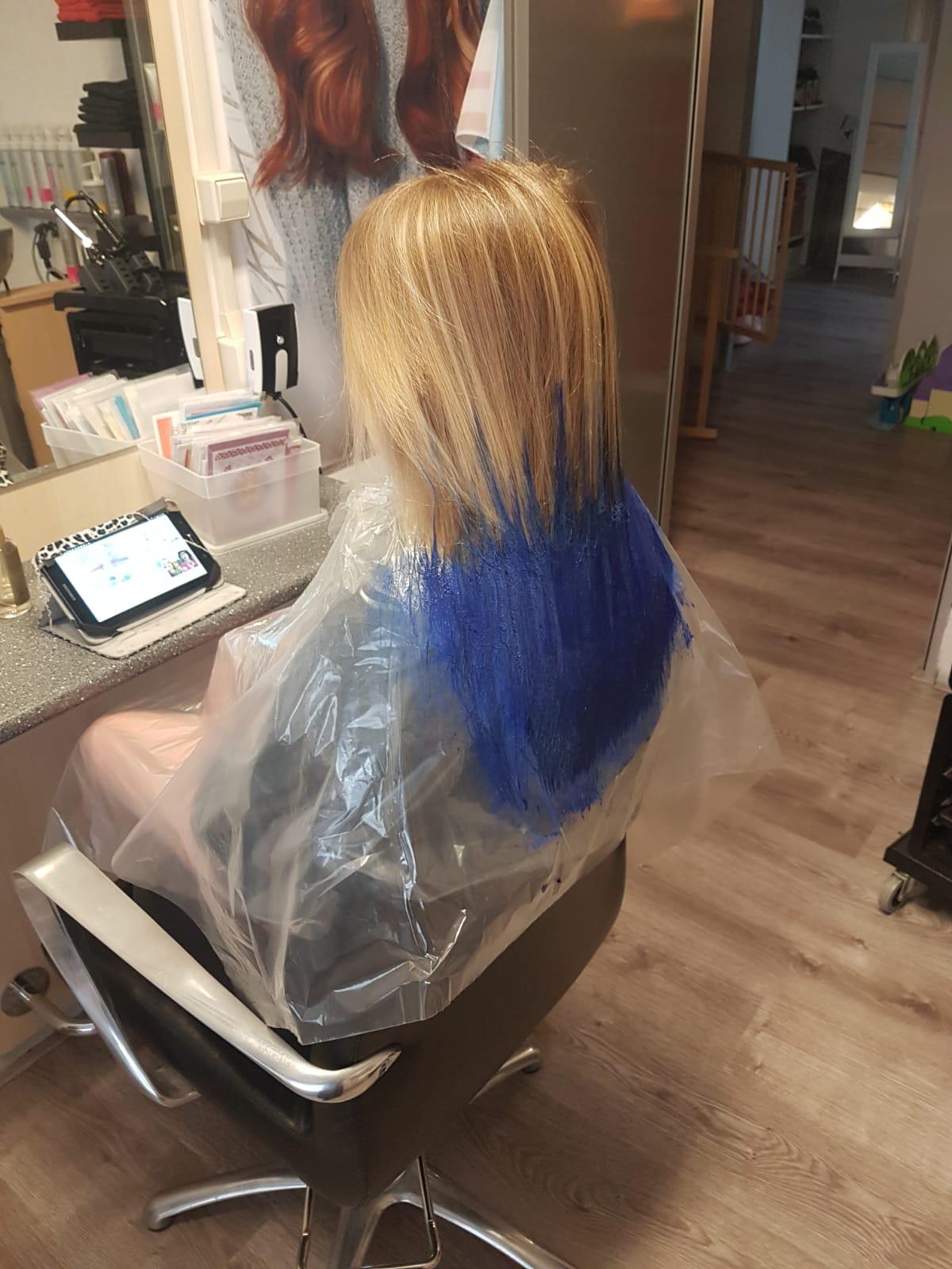 Blauw haar voor